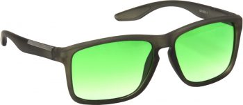 Air Strike Green Lens Grey Frame Retro Square Sunglass Stylish For Sunglasses Men Women Boys Girls