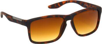 Air Strike Clear Lens Brown Frame Retro Square Sunglass Stylish For Sunglasses Men Women Boys Girls