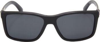 Air Strike Black Lens Black Frame Rectangular Stylish Polarized Sunglasses For Women & Girls - extra