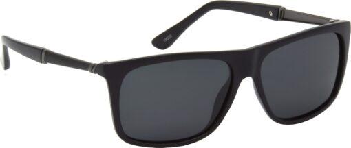 Air Strike Black Lens Black Frame Rectangular Stylish Polarized Sunglasses For Women & Girls