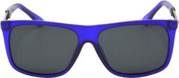 Air Strike Grey Lens Blue Frame Rectangular Stylish Polarized Sunglasses For Women & Girls - extra