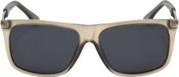 Air Strike Clear Lens Grey Frame Rectangular Stylish Polarized Sunglasses For Women & Girls - extra