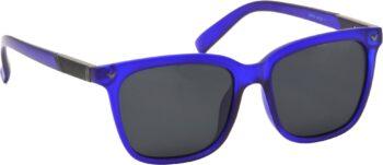 Air Strike Grey Lens Blue Frame Rectangular Stylish Polarized Sunglasses For Women & Girls