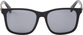 Air Strike Black Lens Black Frame Rectangular Sunglass Stylish Polarized Sunglasses For Women & Girls - extra