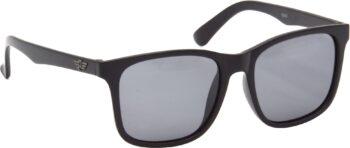 Air Strike Black Lens Black Frame Rectangular Sunglass Stylish Polarized Sunglasses For Women & Girls