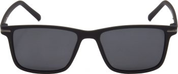 Air Strike Black Lens Black Frame Retro Square Sunglass Stylish Polarized Sunglasses For Women & Girls - extra
