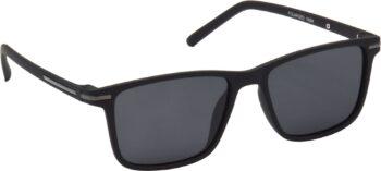 Air Strike Black Lens Black Frame Retro Square Sunglass Stylish Polarized Sunglasses For Women & Girls