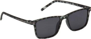 Air Strike Clear Lens Grey Frame Retro Square Sunglass Stylish Polarized Sunglasses For Women & Girls