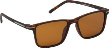 Air Strike Brown Lens Brown Frame Retro Square Sunglass Stylish Polarized Sunglasses For Women & Girls