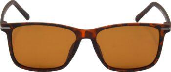 Air Strike Brown Lens Brown Frame Retro Square Sunglass Stylish Polarized Sunglasses For Women & Girls - extra