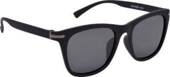 Air Strike Black Lens Black Frame Rectangular Stylish Polarized For Sunglasses Women & Girls