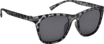 Air Strike Black Lens Grey Frame Rectangular Stylish Polarized Sunglasses For Women & Girls