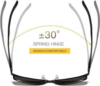 Air Strike Black Lens Black Frame Pilot Stylish For Sunglasses Men Women Boys Girls - extra 1