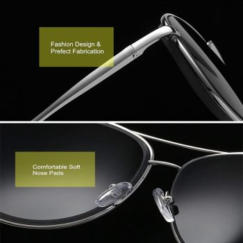 Air Strike Black Lens Black Frame Pilot Stylish For Sunglasses Men Women Boys Girls - extra 2