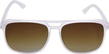 Air Strike Brown Lens White Frame Retro Square Sunglass Stylish For Sunglasses Men Women Boys Girls - extra