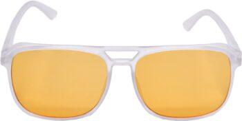 Air Strike Orange Lens White Frame Retro Square Sunglass Stylish For Sunglasses Men Women Boys Girls - extra