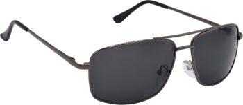 Air Strike Black Lens Grey Frame Wrap-around Sunglass Stylish For Sunglasses Men Women Boys Girls - extra