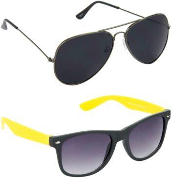 Air Strike Grey Lens Grey Frame Pilot Stylish For Sunglasses Men Women Boys Girls