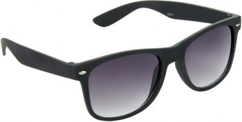 Air Strike Grey Lens Black Frame Rectangular Stylish Sunglasses For Men Women Boys Girls - extra