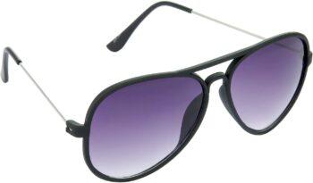 Air Strike Grey Lens Black Frame Pilot Stylish Sunglasses For Men Women Boys Girls - extra
