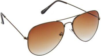 Air Strike Brown Lens Brown Frame Pilot Stylish Sunglasses For Men Women Boys Girls - extra
