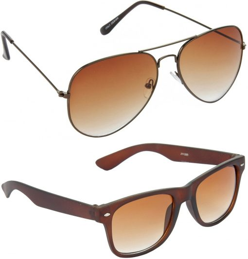 Air Strike Brown Lens Brown Frame Pilot Stylish Sunglasses For Men Women Boys Girls