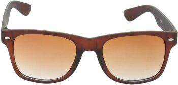 Air Strike Grey Lens Brown Frame Rectangular Stylish Sunglasses For Men Women Boys Girls - extra 4