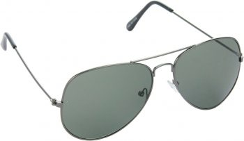 Air Strike Grey Lens Grey Frame Pilot Stylish Sunglasses For Men Women Boys Girls - extra
