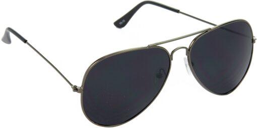 Air Strike Black Lens Gray Frame Pilot Stylish For Sunglasses Men Women Boys Girls