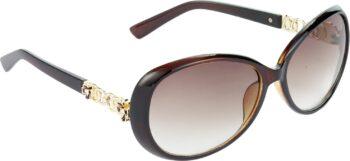 Air Strike Brown Lens Brown Frame Over-sized Sunglass Stylish For Sunglasses Men Women Boys Girls