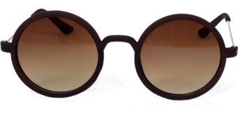 Air Strike Brown Lens Silver Frame Round Sunglass Stylish For Sunglasses Men Women Boys Girls - extra