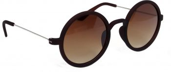 Air Strike Brown Lens Silver Frame Round Sunglass Stylish For Sunglasses Men Women Boys Girls