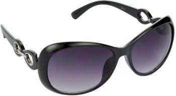 Air Strike Grey Lens Black Frame Over-sized Sunglass Stylish For Sunglasses Men Women Boys Girls