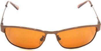 Air Strike Brown Lens Brown Frame Wrap-around Sunglass Stylish Sunglasses For Men Women Boys Girls - extra