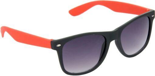 Air Strike Grey Lens Red Frame Rectangular Stylish For Sunglasses Men Women Boys Girls