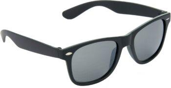 Air Strike Black Lens Dark Black Frame Rectangular Stylish For Sunglasses Men Women Boys Girls