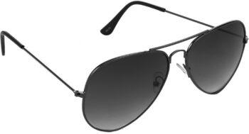 Air Strike Grey Lens Gun Black Frame Pilot Stylish For Sunglasses Men Women Boys Girls