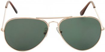 Air Strike Green Lens Gold Frame Pilot Stylish For Sunglasses Men Women Boys Girls - extra