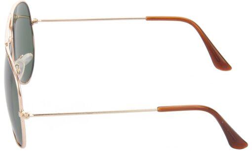 Air Strike Green Lens Gold Frame Pilot Stylish For Sunglasses Men Women Boys Girls - extra 1