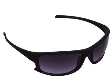 Air Strike Grey Lens Dark Black Frame Oval Sunglass Stylish For Sunglasses Men Women Boys Girls - extra