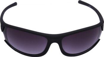 Air Strike Grey Lens Dark Black Frame Oval Sunglass Stylish For Sunglasses Men Women Boys Girls