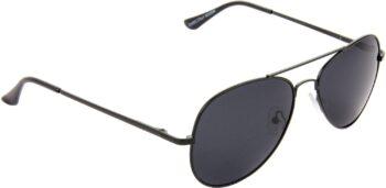 Air Strike Black Lens Black Frame Pilot Stylish For Sunglasses Men Women Boys Girls
