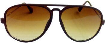 Air Strike Brown Lens Brown Frame Pilot Stylish For Sunglasses Men Women Boys Girls - extra