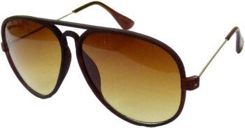 Air Strike Brown Lens Brown Frame Pilot Stylish For Sunglasses Men Women Boys Girls