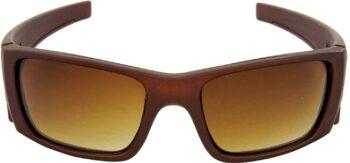 Air Strike Brown Lens Brown Frame Sports Sunglass Stylish For Sunglasses Men Women Boys Girls - extra