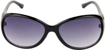 Air Strike Blue Lens Black Frame Over-sized Sunglass Stylish For Sunglasses Men Women Boys Girls - extra