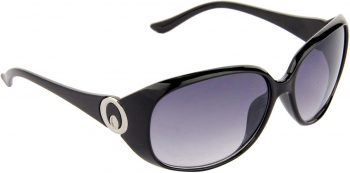 Air Strike Blue Lens Black Frame Over-sized Sunglass Stylish Sunglasses For Men Women Boys Girls