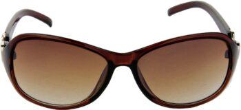 Air Strike Brown Lens Brown Frame Over-sized Sunglass Stylish Sunglasses For Men Women Boys Girls - extra