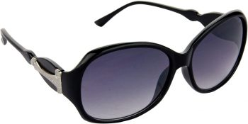 Air Strike Blue Lens Black Frame Over-sized Sunglass Stylish For Sunglasses Men Women Boys Girls