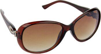 Air Strike Brown Lens Brown Frame Over-sized Sunglass Stylish Sunglasses For Men Women Boys Girls